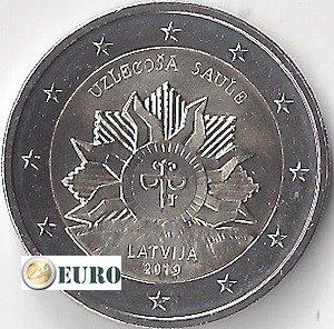 2 euros Lettonie 2019 - Armoiries - Lever du Soleil UNC