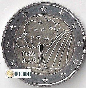 2 euros Malte 2019 - Nature et Environnement  UNC