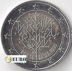 2 euros Estonie 2020 - Traité de Tartu UNC