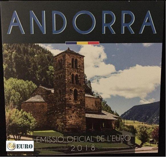 Série euro BU FDC Andorre 2018