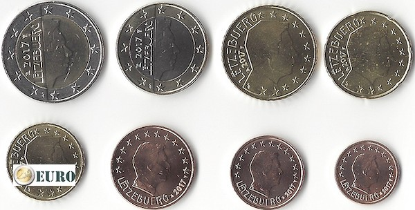 Série euro UNC Luxembourg 2017
