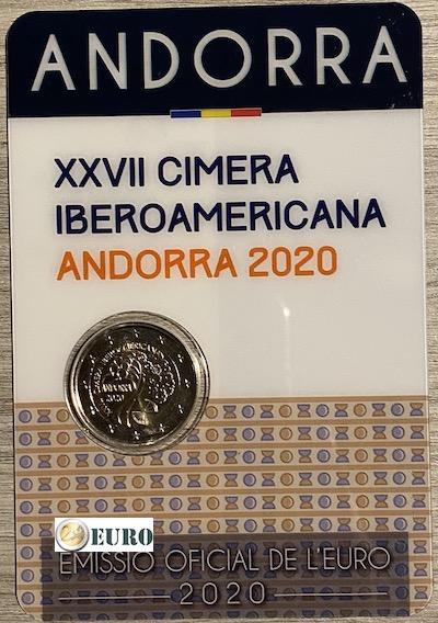 2 euros Andorre 2020 - Sommet Ibéro-Américain BU FDC Coincard