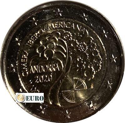 2 euros Andorre 2020 - Sommet Ibéro-Américain UNC