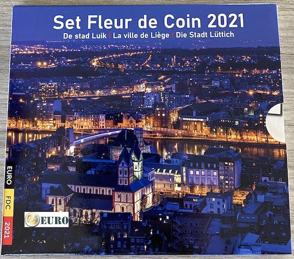 Série euro BU FDC Belgique 2021 Liège