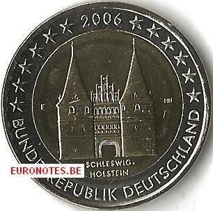 Allemagne 2006 - 2 euro F Schleswig-Holstein UNC