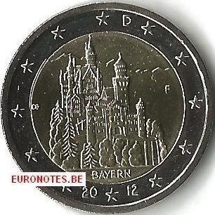 Allemagne 2012 - 2 euro F Bavière UNC