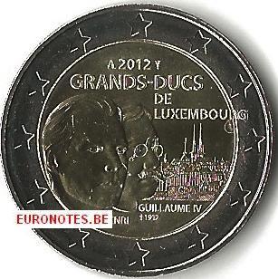 Luxembourg 2012 - 2 euro Grand-Duc Henri et Guillaume UNC