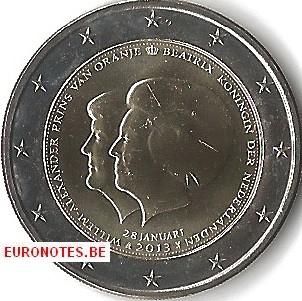 Pays-Bas 2013 - 2 euro Double portrait UNC