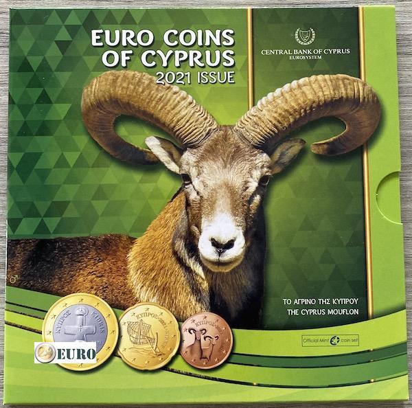 Série euro BU FDC Chypre 2021 - Mouflon