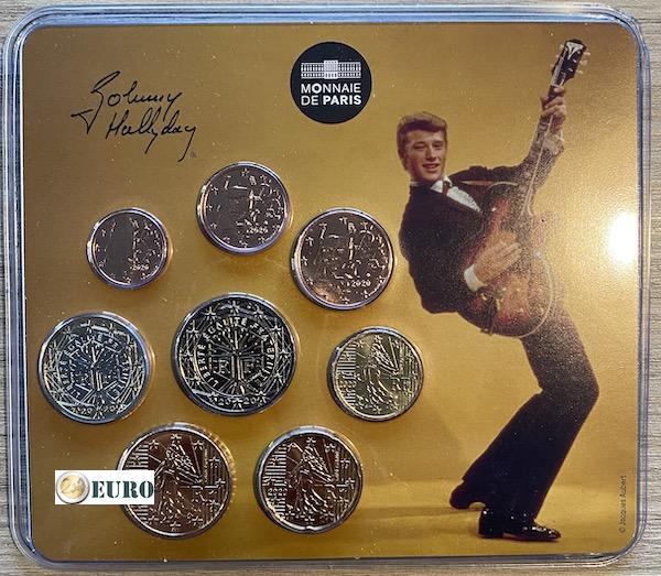 Série euro BU FDC miniset France 2020 Johnny Hallyday Guitare Vintage