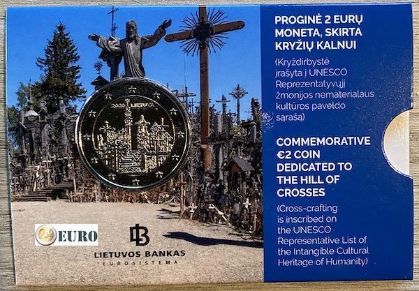 2 euros Lituanie 2020 - Colline des Croix BU FDC Coincard