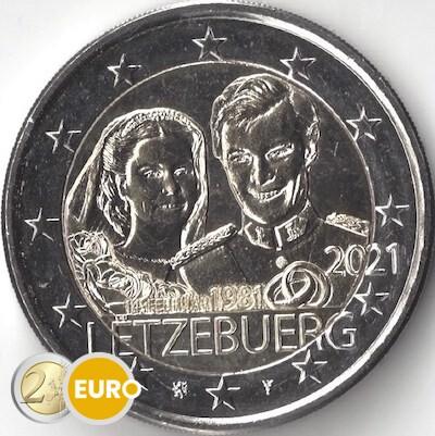 2 euros Luxembourg 2021 - 40 ans mariage Henri UNC