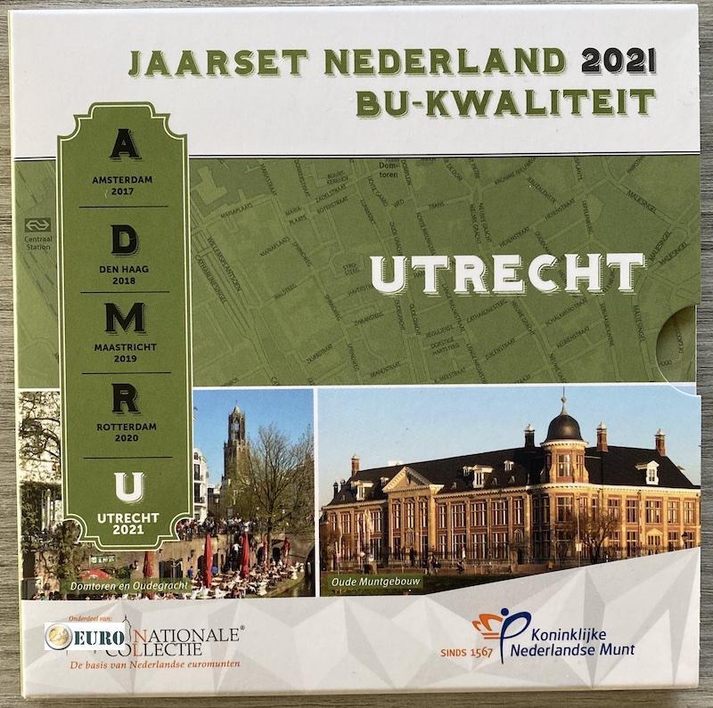 Série euro BU FDC Pays-Bas 2021 Utrecht