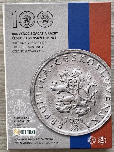 Série euro BE Proof Slovaquie 2021 - Monnaie tchécoslovaque