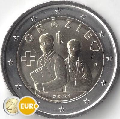 2 euros Italie 2021 - Grazie Professions de la santé UNC
