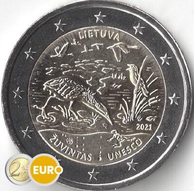 2 euros Lituanie 2021 - Réserve de biosphère Zuvintas UNC