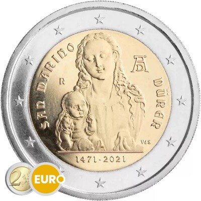 2 euros Saint-Marin 2021 - Albrecht Dürer BU FDC