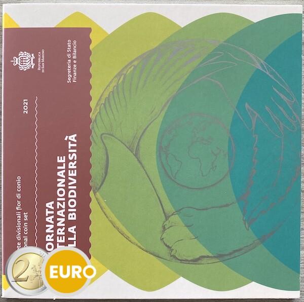 Série euro BU FDC Saint-Marin 2021 + 5 euros diversité biologique