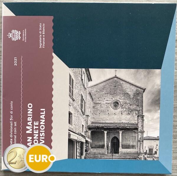 Série euro BU FDC Saint-Marin 2021