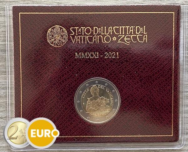 2 euros Vatican 2021 - Caravage BU FDC