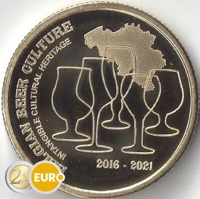 2,50 euros Belgique 2021 - Culture de la bière 5 ans héritage UNC