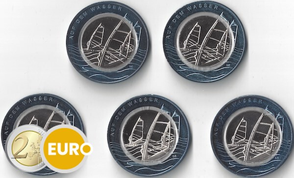 10 euros Allemagne 2021 - Sur l'eau ADFGJ UNC